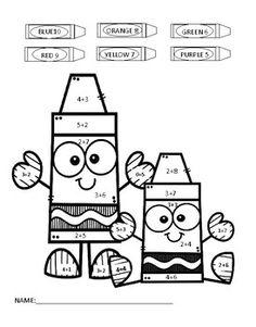 Crayon Packing - Addition coloring page | Math | Crayola ...