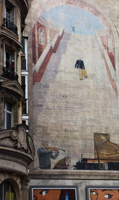 Paris Wall by Rieti - Trompe l'oeil