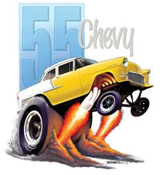 """55 Chevy - """"do these tires make my rearend look fat?"""