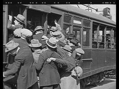 Getting onto the tram from Hurry Up! (1922) staring Jimmie Adams. Start at 4:10