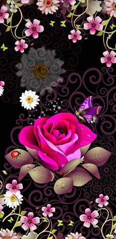 Rose wallpaper by mirapav - ce - Free on ZEDGE™ Blue Roses Wallpaper, Wallpaper Nature Flowers, Beautiful Flowers Wallpapers, Flower Phone Wallpaper, Beautiful Nature Wallpaper, Heart Wallpaper, Butterfly Wallpaper, Cellphone Wallpaper, Flower Backgrounds