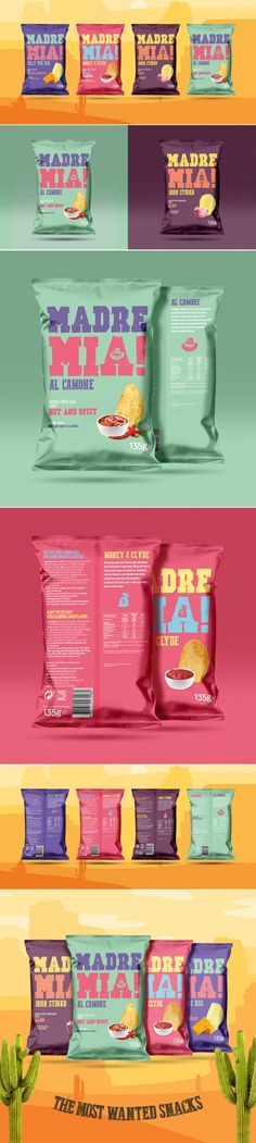 Madre Mia! is the Potato Chip Brand That Plays Off Of Notorious Characters — The Dieline | Packaging & Branding Design & Innovation News