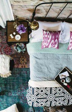 Schlafzimmer - ein Vielfalt von Stoffen