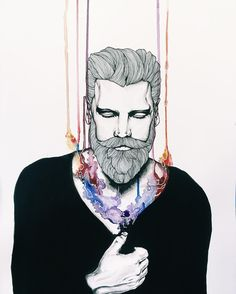 @wolfwednesdays   #illustration #watercolor #art # portrait