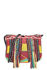 Antik Batik - Pochette perlée multicolore Boom