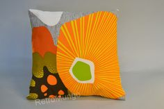 Handmade Pillow cover retro style  mid century 40 x40 by Madeby247