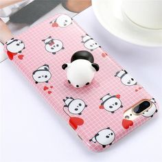 KISSCASE Cute 3D Squishy Case For iPhone 7 6 6s Plus Funny Cat Panda Seal 3D Cover For iPhone 5s 6 6s 7 Plus Phone Case Squishy