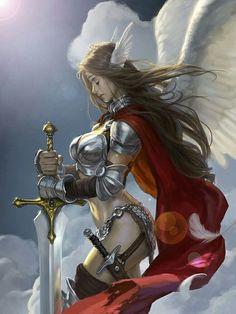 Valquíria se preparando para conduzir as almas para Valhala
