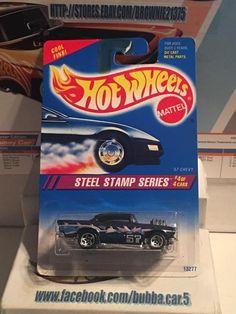HOT WHEELS 1995 STEEL STAMP SERIES '57 CHEVY Metalflake Dark Blue #HotWheels #Chevrolet
