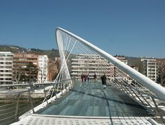 Santiago Calatrava - Campo Volantin Footbridge Bilbao Spain - 1990-1997