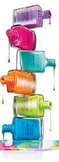 AVON Products Nailwear Pro + Nail With a New & Improved formula, 45 new shades and 4 new finishes to play with, Nailwear Pro+ Nail Enamel is your pretty little secret to summer's hottest nails.     12 days of lasting color.   Increases nail strength by 80%.   High-shine finish resists dings, bangs and nicks.   No formaldehyde, toluene or phthalates.   .4 fl. oz.Enamel