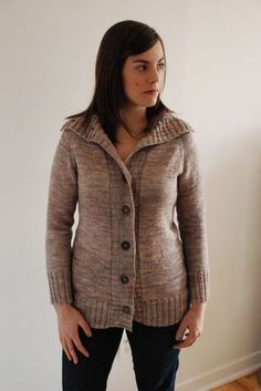 Calligraphy Cardigan by KnitBot