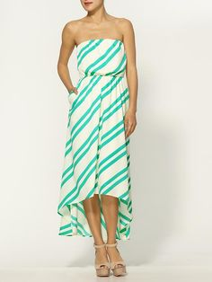 Collective Concepts Stripe Maxi Dress - with a cardigan or under shirt. Prob the first Hi-Low I really really like.