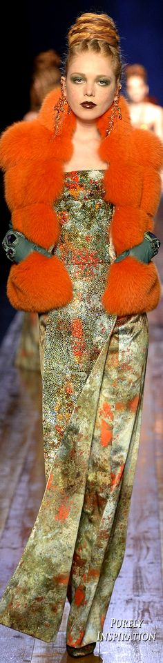 11/03/16: fur and floral textile. Paul Gaultier Fall 2016 Couture Fashion Show More