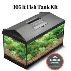 Large Tropical Aquarium Fish Tank Modern Lighting Freshwater Kit Tanks Set Up | eBay