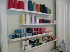 Image result for sewing room shelves