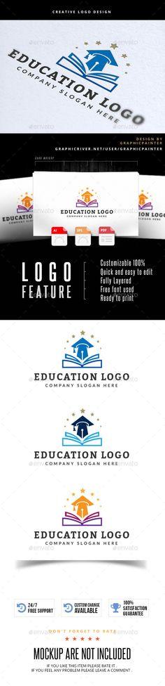 Education Logo Template #design #logotype Download: http://graphicriver.net/item/education-logo/12515146?ref=ksioks