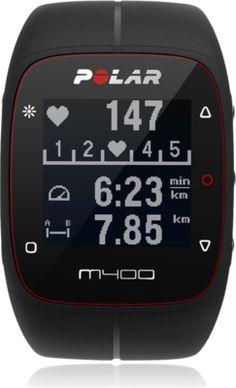 POLAR M400 Hr Gps 24/7 Activity Tracking Watch - Black.