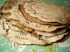 6 inch and 4 inch Vintage Doily Doilies. Vintage Wedding. Shabby Chic. Paper Doily. Scrapbooking. Rustic. Gift Wrap. Mason Jar. Set of 25. on Etsy, $17.50
