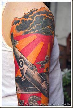 Supermarine Spitfire WWII Airplane Tattoo Fighter Tattoos In Flight Stephanie Tamez