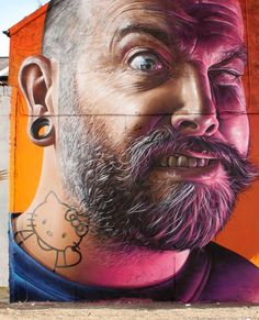 Smug is an Australian street artist based in Glasgow. Since recognizing his passion for Graffiti, Smug has quickly become one of the most talented street Urban Graffiti, Street Art Graffiti, Banksy, Installation Street Art, Graffiti Characters, Best Street Art, Art Graphique, Typography Art, City Art