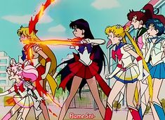 "Sailor Moon SuperS ep 155 - ""Over the Fear! Jump to Freedom"" (1995)"