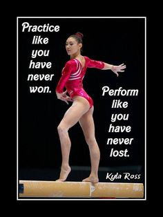 Gymnastics Motivation Poster Kyla Ross Gymnast Photo Quote Wall Art Print Practice Like U Never Won - Perform Like U Never Lost by ArleyArt on Etsy Gymnastics Posters, Gymnastics Workout, Gymnastics Pictures, Rhythmic Gymnastics, Gymnastics Stuff, Best Gymnastics, Gymnastics Tattoo, Gymnastics Bedroom, Toddler Gymnastics