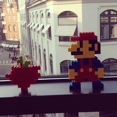LEGO Super Mario sculptures
