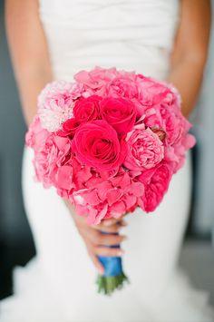 Pinker - fuchsiafarbiger Brautstrauß
