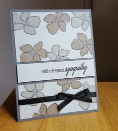 Sympathy card using Artful flowers from Simon Says stamp and Hero Arts ink.