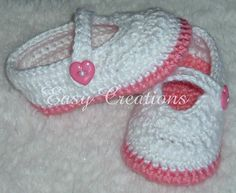 Star Stitch Mary Jane Shoes PDF Crochet Pattern by Easy Creations