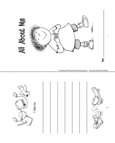 Help your child love to write with this printable minibook. Explore our free Scholastic printables and worksheets for all ages that cover subjects like reading, writing, math and science. Preschool Rules, Kindergarten Math Worksheets, Science Worksheets, Printable Worksheets, Image Printable, Preschool Printables, Classroom Activities, Free Printable, All About Me Printable