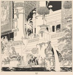 [Building with fountains.] (1898), Heinrich Lefler (1863-1919) and Joseph Urban (1872-1933) (NYPL)
