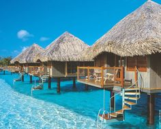 Bora Bora. How fun with would this be as a huge family vacation! Or a good group of friends! Let's gooo!