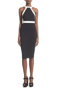 Missguided Monochrome Midi Dress available at #Nordstrom