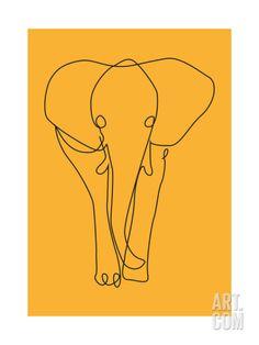 Icon Safari - Elephant Giclee Print by Gosia Warrink at Art.com