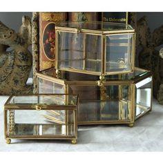 楓晴萬種小姐*代購,歐式復古風古銅黃銅玻璃珠寶盒首飾盒透明盒客廳咖啡廳公仔玩具展示盒展示架掛飾裝飾擺飾品家居家具傢俱