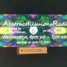 """i got a Chinese Fortune cookie saying """"you create your own stage and your audience awaits you!"""" so return AIRadio to WLOR.net tomorrow. Come and listen in. 4pm on west coast, 7pm eastern. more info on http://jenniferhillman.com."""