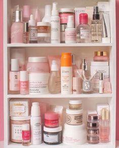 Pink Skincare Shelfie #KoreanMakeupTips - #KoreanMakeupTips #PINK #Shelfie #skincare