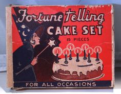 Fortune Telling cake set. Oh the fun! /box/