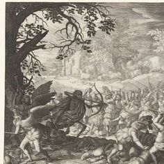 The Triumph of Death, Boëtius Adamsz. Bolswert, after David Vinckboons, 1610  engraving, h 275mm × w 377mm
