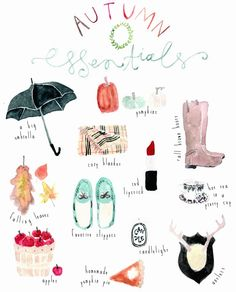 Autumn Essentials Print.