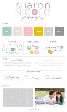 SharonNicolePhotographyBrandBoard-SaffronAvenue #logodesign #brandboard #photography #logo
