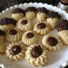 50 cookie press recipes that will refine your decorating skills - Decoration House Diy - Italian spritz cookies - Italian Butter Cookies, Italian Cookie Recipes, Italian Desserts, Italian Foods, Italian Bakery, Italian Pastries, French Pastries, Nutella Cookies, Yummy Cookies
