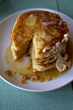 Fried cake for breakfast? Sign me up.    These honey lemon pancakes should definitely be your next weekend project. Make a whole batch of them and reheat them throughout the week. I love pancakes for any meal of the day, forgot my lunch? I have pancakes! Don't feel like making dinner? ...