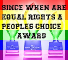 """@andybeedesigns) on Instagram: """"Since when are Equal Rights a People's Choice Award? #marriageequality #ssm #voteyes #loveislove…"""""""