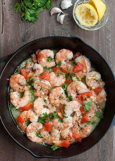 Garlic Baked Shrimp #paleo #glutenfree | www.nutritiouseats.com