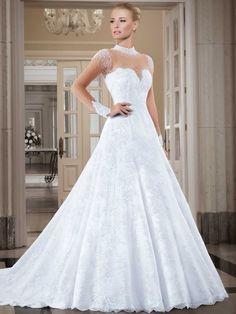 A-Line Long Sleeve Wedding Dress