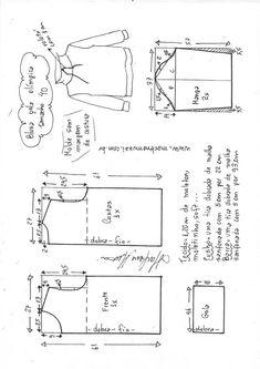 Best 9 Blusa moletom com capuz feminina T Shirt Sewing Pattern, Shirt Dress Pattern, Hoodie Pattern, Pattern Drafting, Jacket Pattern, Sewing Pants, Sewing Clothes, Clothing Patterns, Sewing Patterns