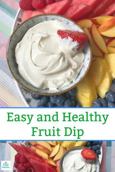 A seriously deliciously healthier fruit dip - made with 4 simple ingredients. Mix it up and serve it with all of your favourite fruit. Recipes fruit Easy and Deliciously Healthy Dip Recipe for Fruit Trays Healthy Dip Recipes, Healthy Dips, Healthy Fruits, Fruit Recipes, Healthy Foods To Eat, Appetizer Recipes, Cooking Recipes, Appetizers, Healthy Snacks With Fruit